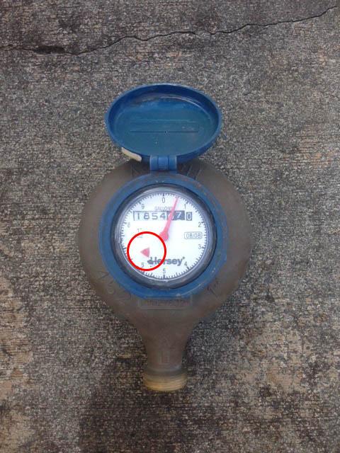 Plumbing services water meter